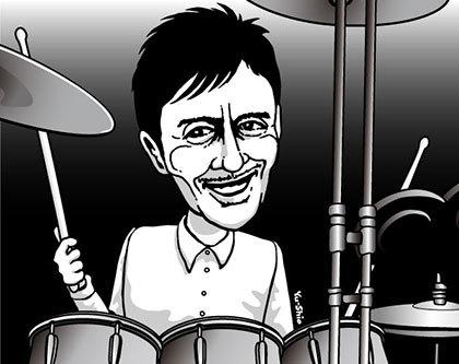 神保彰 caricature likeness