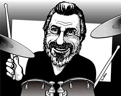 Rick Marotta caricature likeness