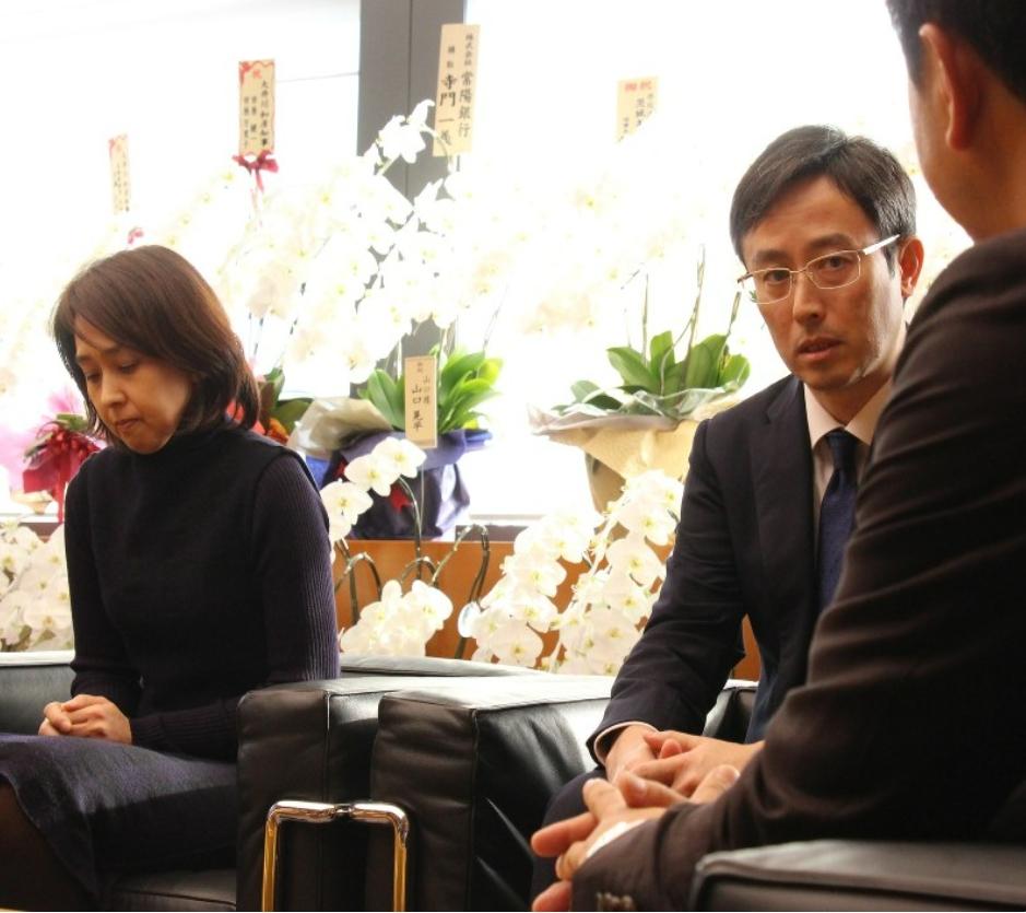 大井川和彦知事に徹底した調査を依頼する中島菜保子さんの両親