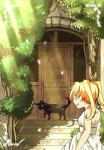 黒猫と玄関仮決定縮小