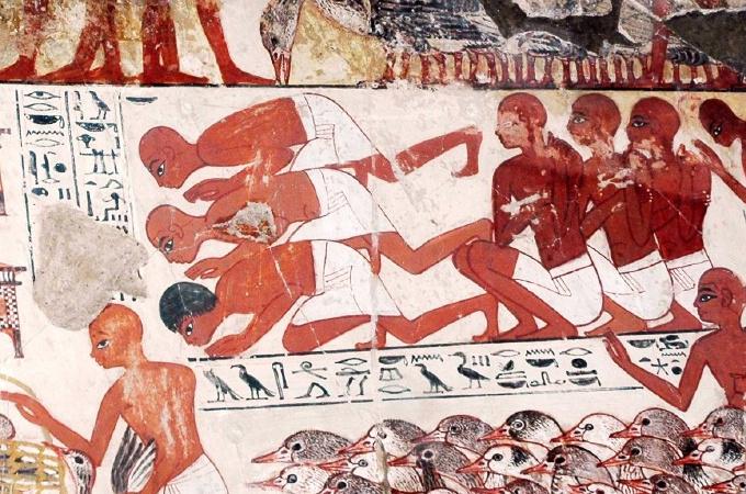 ネブアメンの墓の壁画