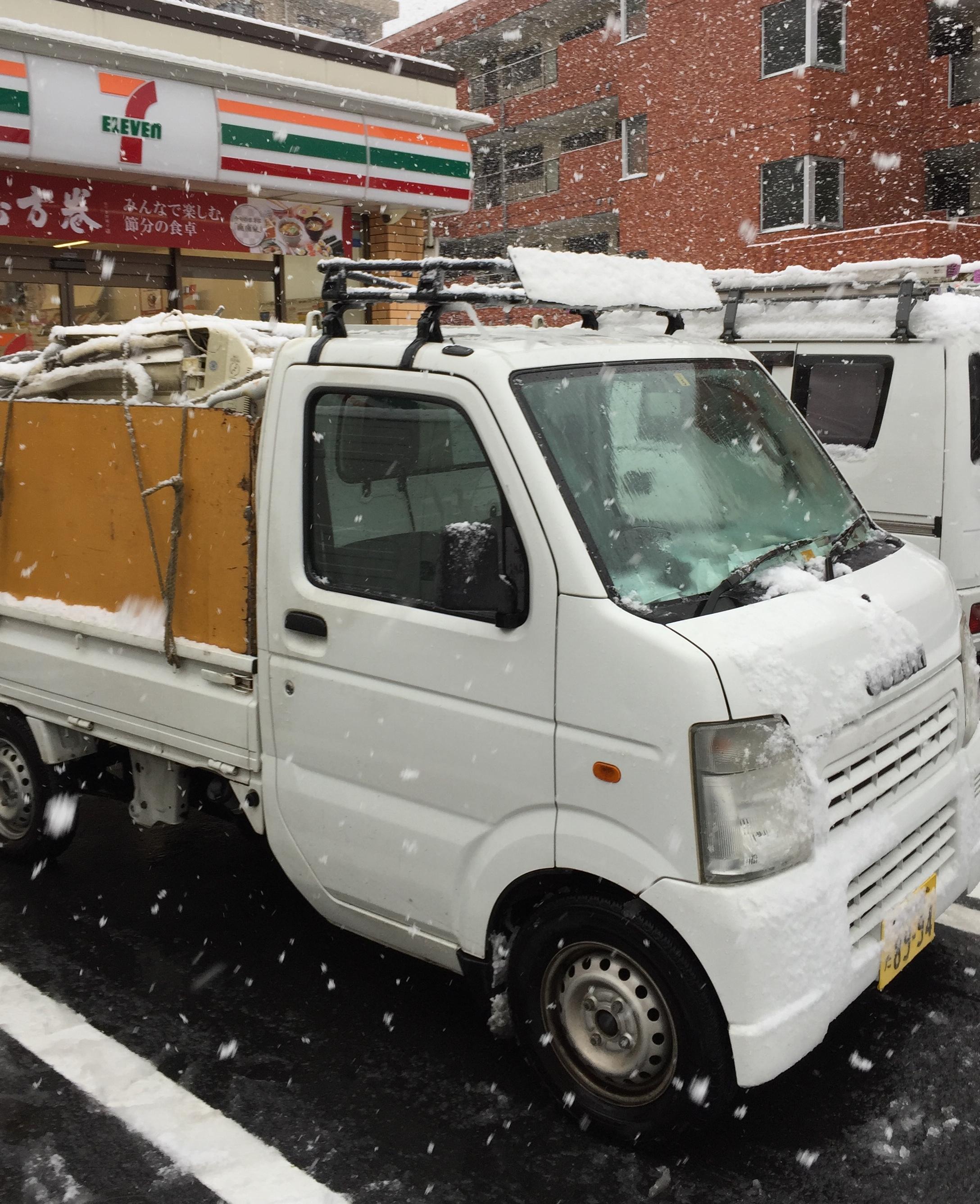 今日は雪の日