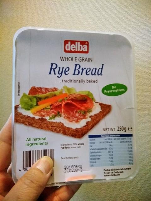 ドイツ製 delba社のライ麦ブレッド1