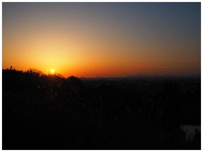 伊予灘の日没1
