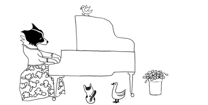 ヴィッキーのピアノとモモちゃん