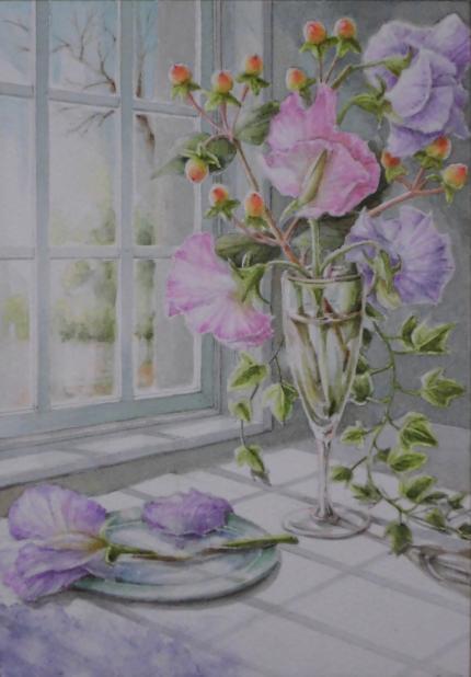 窓辺のスイトピー 1803