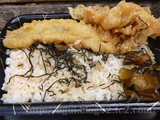 ご飯に細切り海苔と穴子天のタレ012