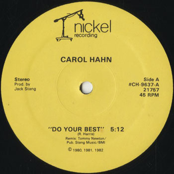DG_CAROL HAHN_DO YOUR BEST _201803
