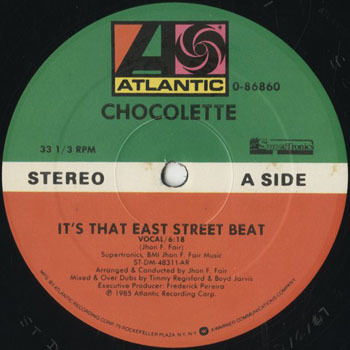 DG_CHOCOLETTE_ITS THAT EAST STREET BEAT_201803