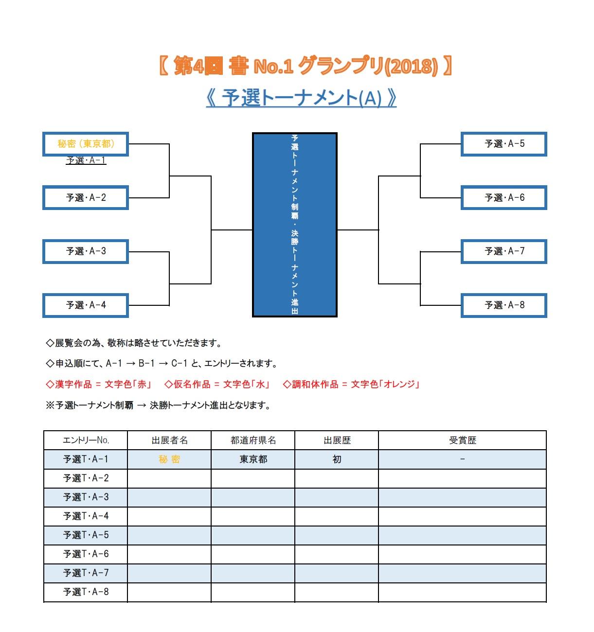 グランプリ-2018 予選トーナメントA-2018-0330