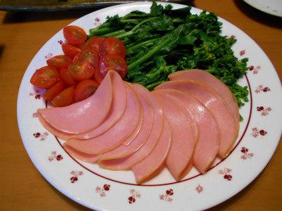 3.17のらぼう菜と菜花のサラダ