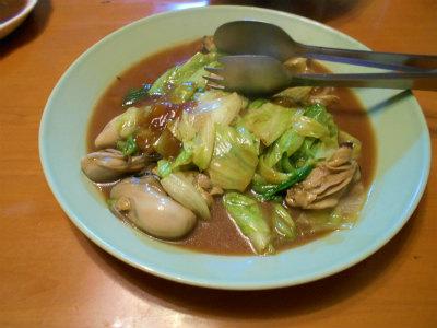 3.18レタスと牡蠣の炒め物