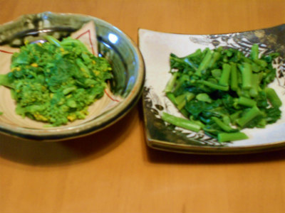 3.23のらぼう菜、菜花のお浸し