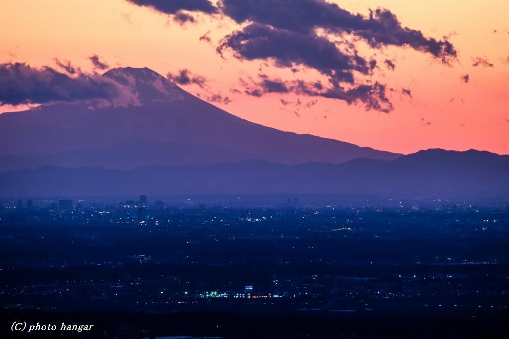 関東の夕焼け
