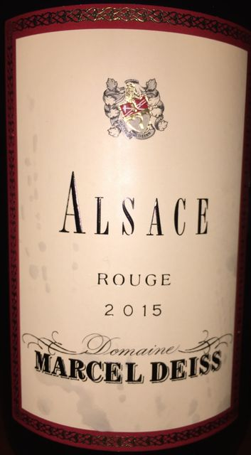 Alsace Rouge Marcel Deiss 2015 part1