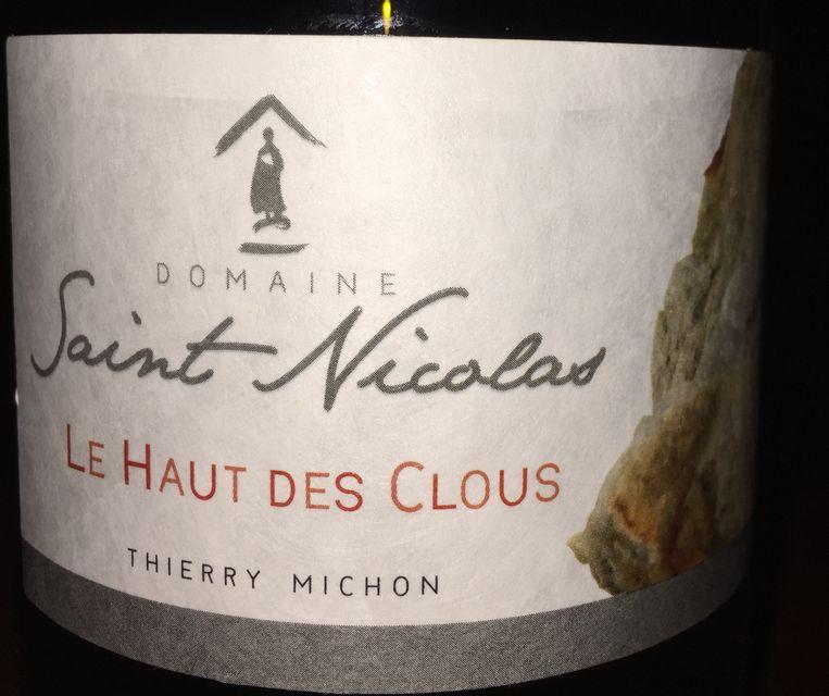 Le Haut des Clous Thierry Michon Domaine Saint Nicolas 2016 part1
