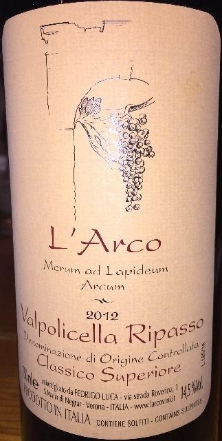 Valpilicella Ripasso Classico Superiore LArco 2012