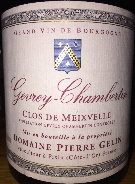 Gevrey Chambertin Clos de Meixvelle monopole Domaine Pierre Gelin 2005