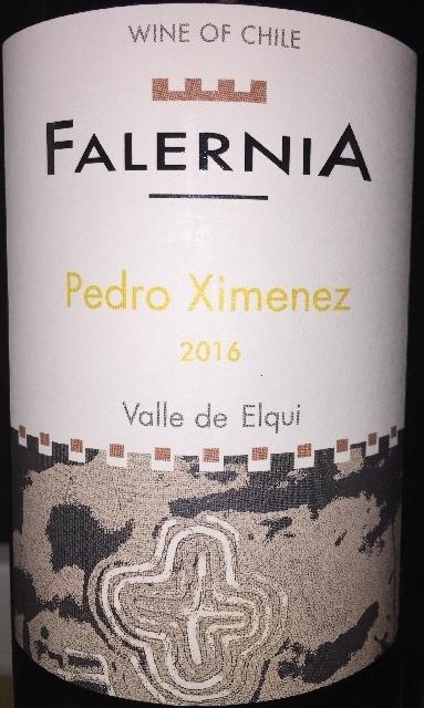 Falernia Pedro Ximenez Valle de Elqui 2016 part1