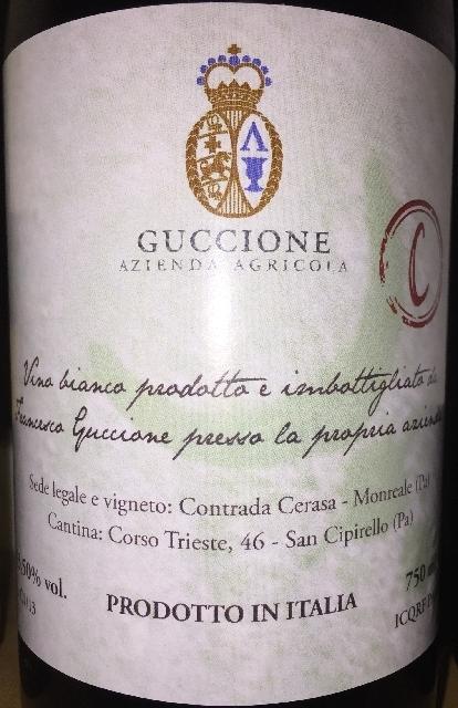 Vino Bianco Catarratto C Guccione NV(2013)