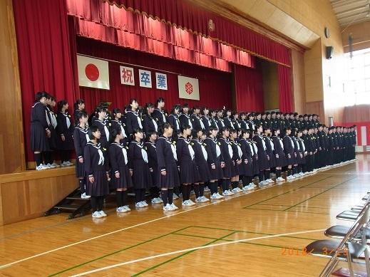 H30年墨坂中学校卒業式