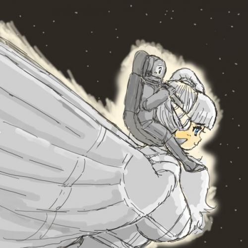 飛翔形態大型ロボ娘