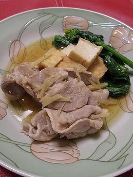 20180401 豚肉と厚揚げ煮