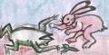 5鳥獣戯画 ひっくり返る蛙(1)
