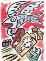 広隆寺鰊飛ぶ空の時計台のセレナーデ