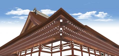 紫宸殿の三段垂木