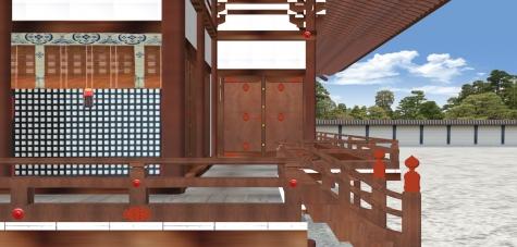 紫宸殿南面の東廂