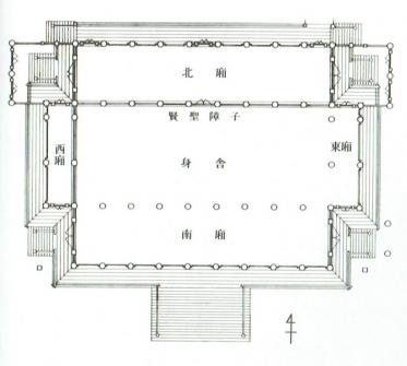 紫宸殿の平面図