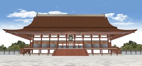 京都御所紫宸殿の正面