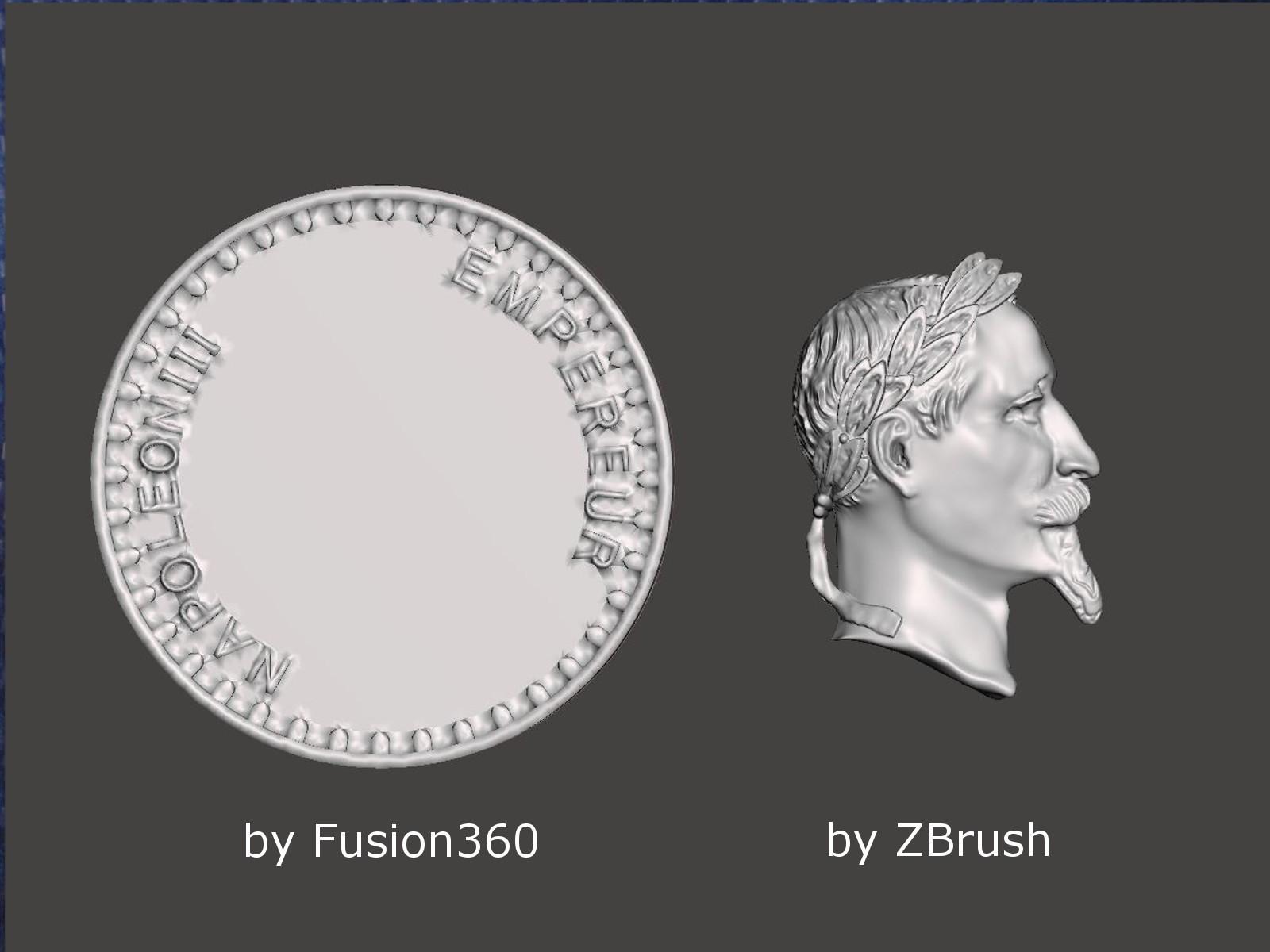 メダル_Fusion360_ZBrush
