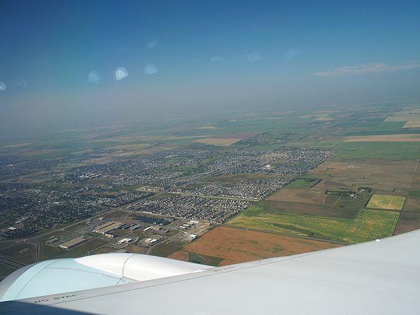 カルガリー上空