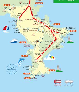 三浦半島 観光地図 京浜急行