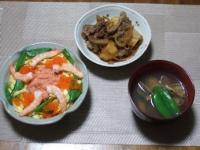 3/3 夕食 ちらし寿司、肉じゃが、あさりのお吸い物