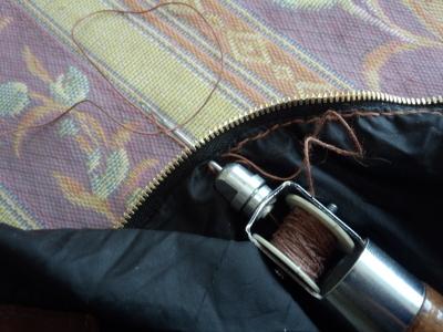 輪行袋のファスナー交換