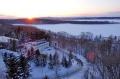網走湖の日没