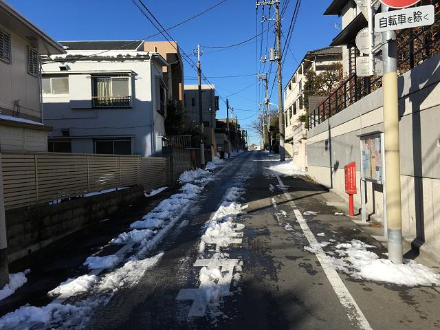1週間経ってもまっだ雪が残る東京街中1@2018年1月31日 by占いとか魔術とか所蔵画像
