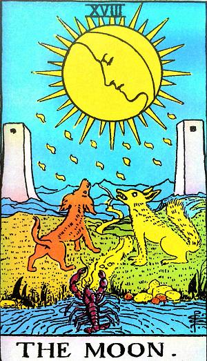 タロットカード『月』 by占いとか魔術とか所蔵画像