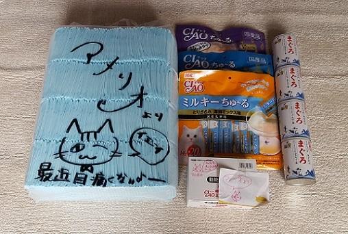 支援物資(神戸市   S・アメリオさま)