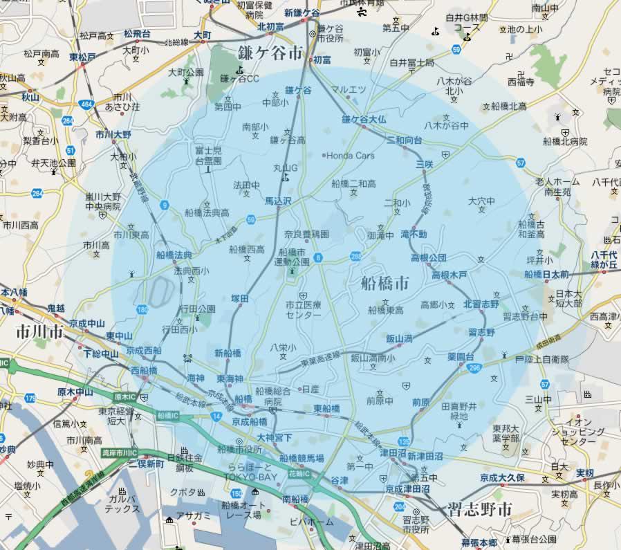 船橋市 地図