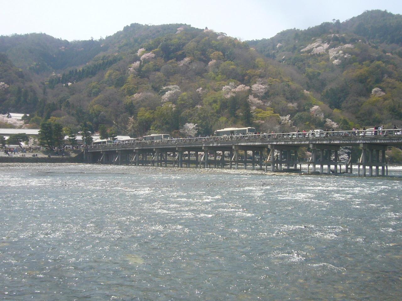 渡月橋 人波 H30.3.31