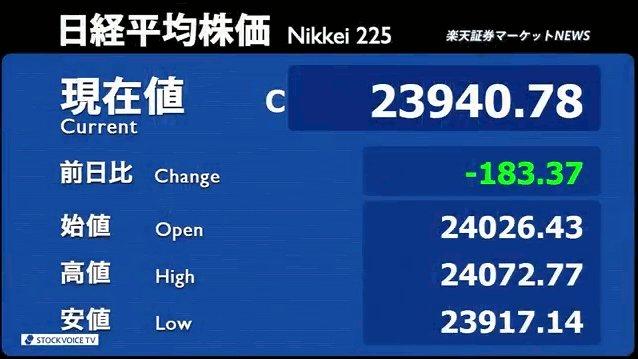 24日_楽天証券マーケットNEWS【大引け】01