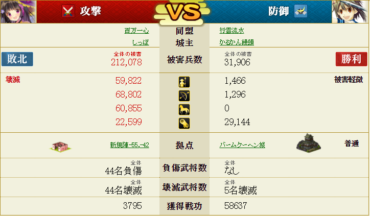 盟主戦1-4