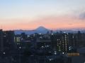 夕方の富士山板橋区