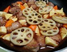 豚肉とレンコンの甘酢あん 調理⑤⑤