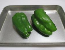 厚揚げピーマンの七味炒め 材料②
