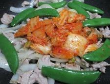 豚キムチ炒め 調理⑤